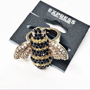 Express • Pave Crystal Bumblebee Ring